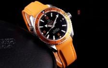VS厂橙圈欧米茄海马600复刻表男士手表胶带款